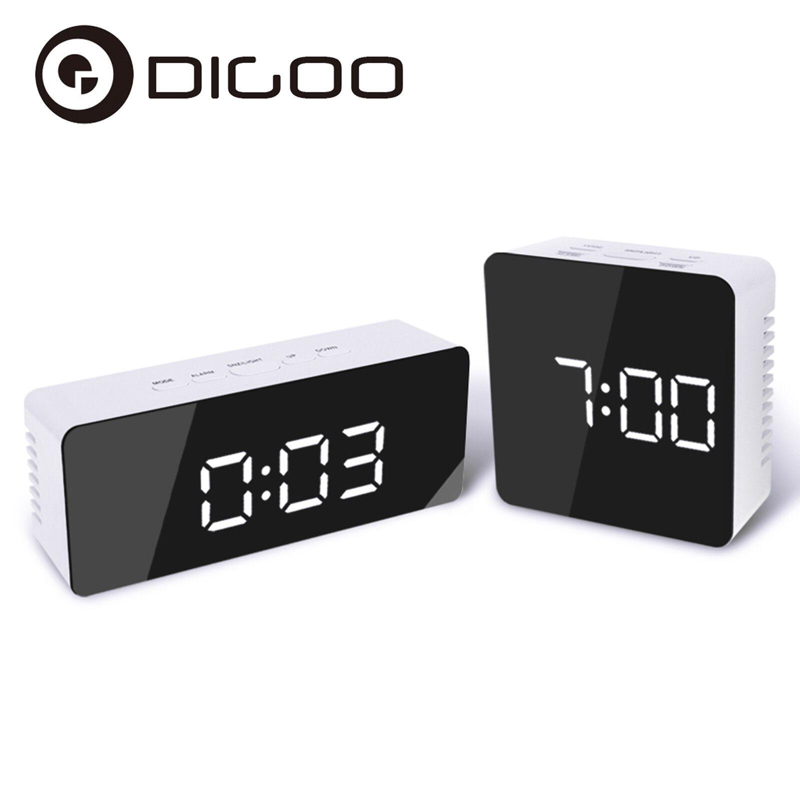 Digoo DG-DM1 Wireless USB Mirror LED Digital Thermometer Temperature Alarm Clock