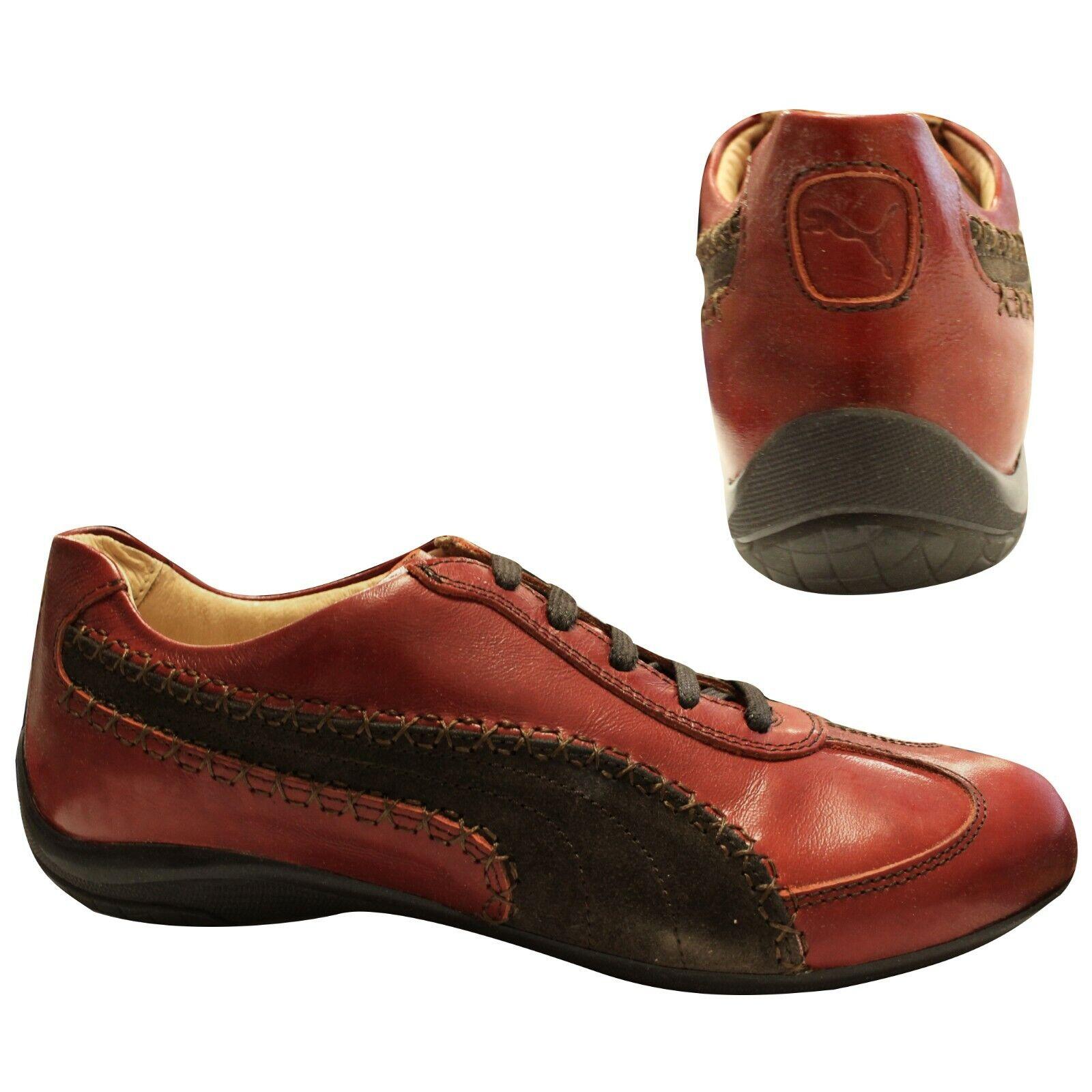 Détails sur Puma Speed Cat Re luxe à lacets pour femme Baskets Rouge Chaussures Marron 346961 02 B12C afficher le titre d'origine