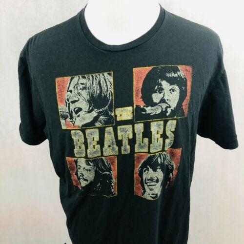 Beatles T-Shirt XLarge Black Red Gold 100% Cotton Retro Graphic Apple 2019 Tee