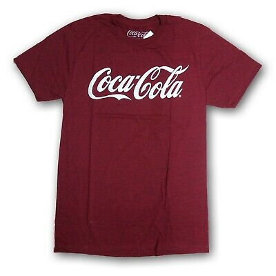 "Coca Cola Men's Burgundy Short Sleeve T-Shirt ""Coca Cola"" New With Tags"