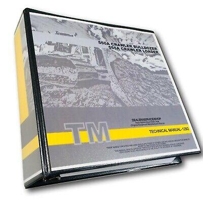 John Deere 550a 555a Crawler Bulldozer Loader Technical Service Manual 896 Pgs