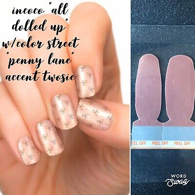 """Incoco Coconut """"Dolled Up"""" Polish Strips + Color Street twosies"""