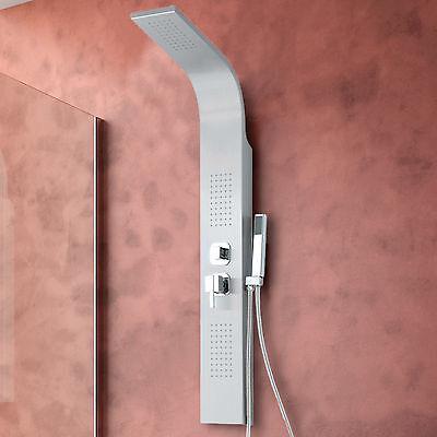 Colonna doccia in acciaio inox design miscelatore soffione idromassaggio moderno