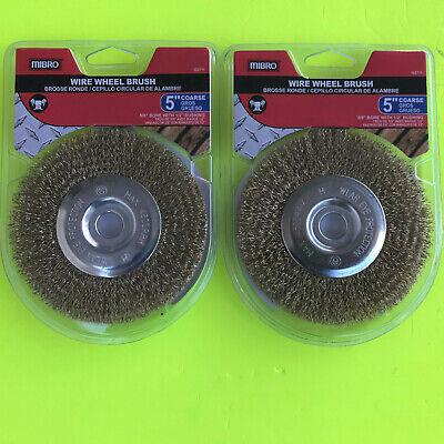 2 Mibro 5 Wire Wheel Brush Coarse 12-inch Through 58-inch Arbor