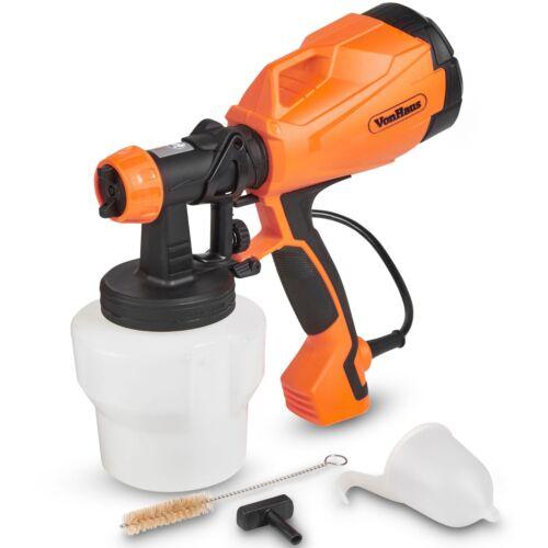 VonHaus Electric HVLP Paint Sprayer Gun Spray Pattern & Flow Control for Home