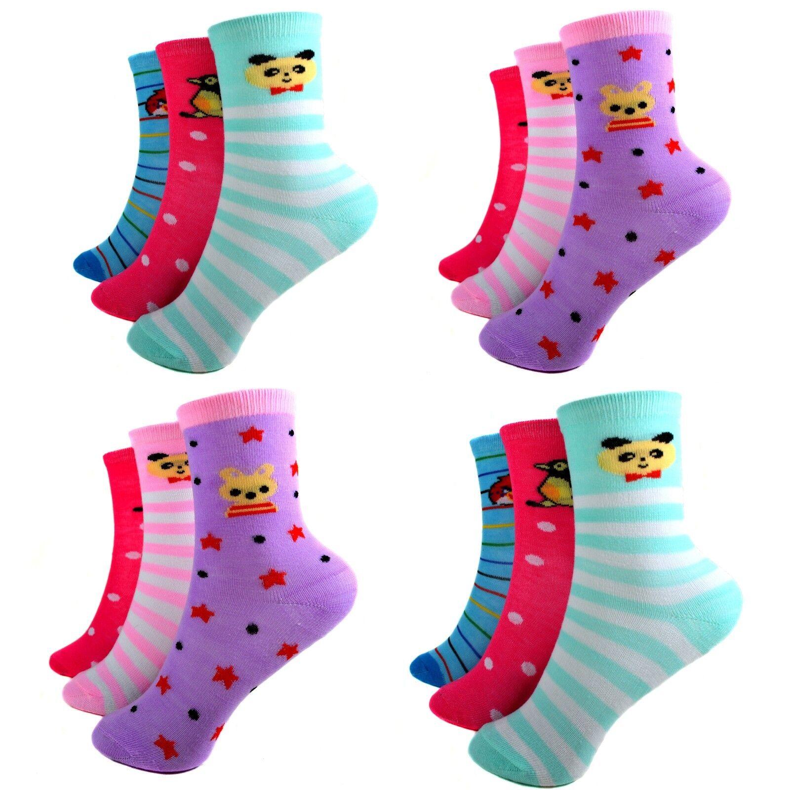 24 Paar Ladies Mädchen Socken Kinder Strümpfe 85% Baumwolle A.S-100 Gr. 23-38