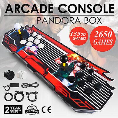 NEW Pandora Box 2650 Games in 1 Home Arcade Console 2515 2D & 135 3D Retro Video