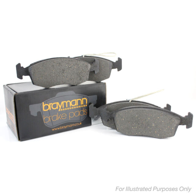 127.6mm Wide Braymann Front Brake Pads Set Genuine OE Spec Service Replacement