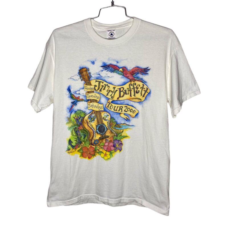 Vintage Jimmy Buffett 2000 Tuesdays Thursdays Saturdays Concert T-Shirt Tee L