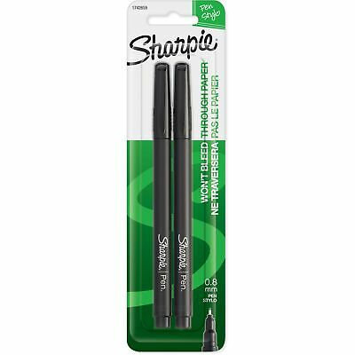 Sharpie Fine Point Pens Black Ink 2 Ea