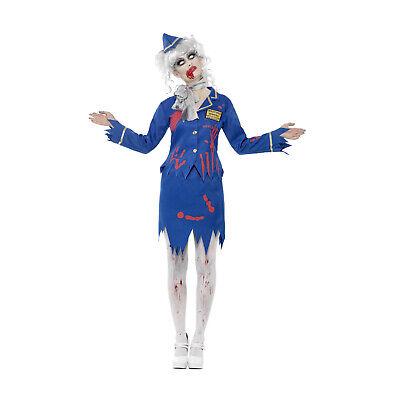 Halloween Zombiekostüm Blutige Flugbegleiterin Kostüm Damen Karneval Fasching