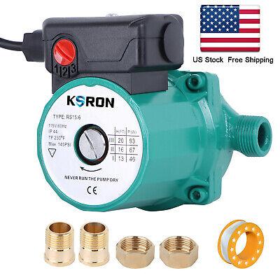 Npt34 Hot Water Recirculating Pump 3-speed Circulationcirculator Pump 110v