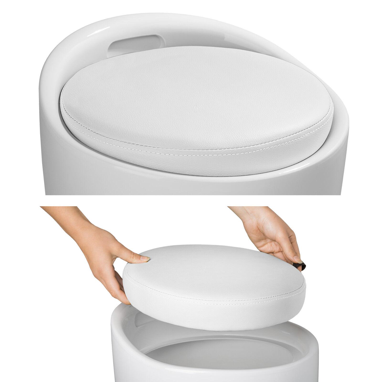 tabouret de salle de bain panier linge fateuil chaise avec rangement blanc eur 107 90. Black Bedroom Furniture Sets. Home Design Ideas