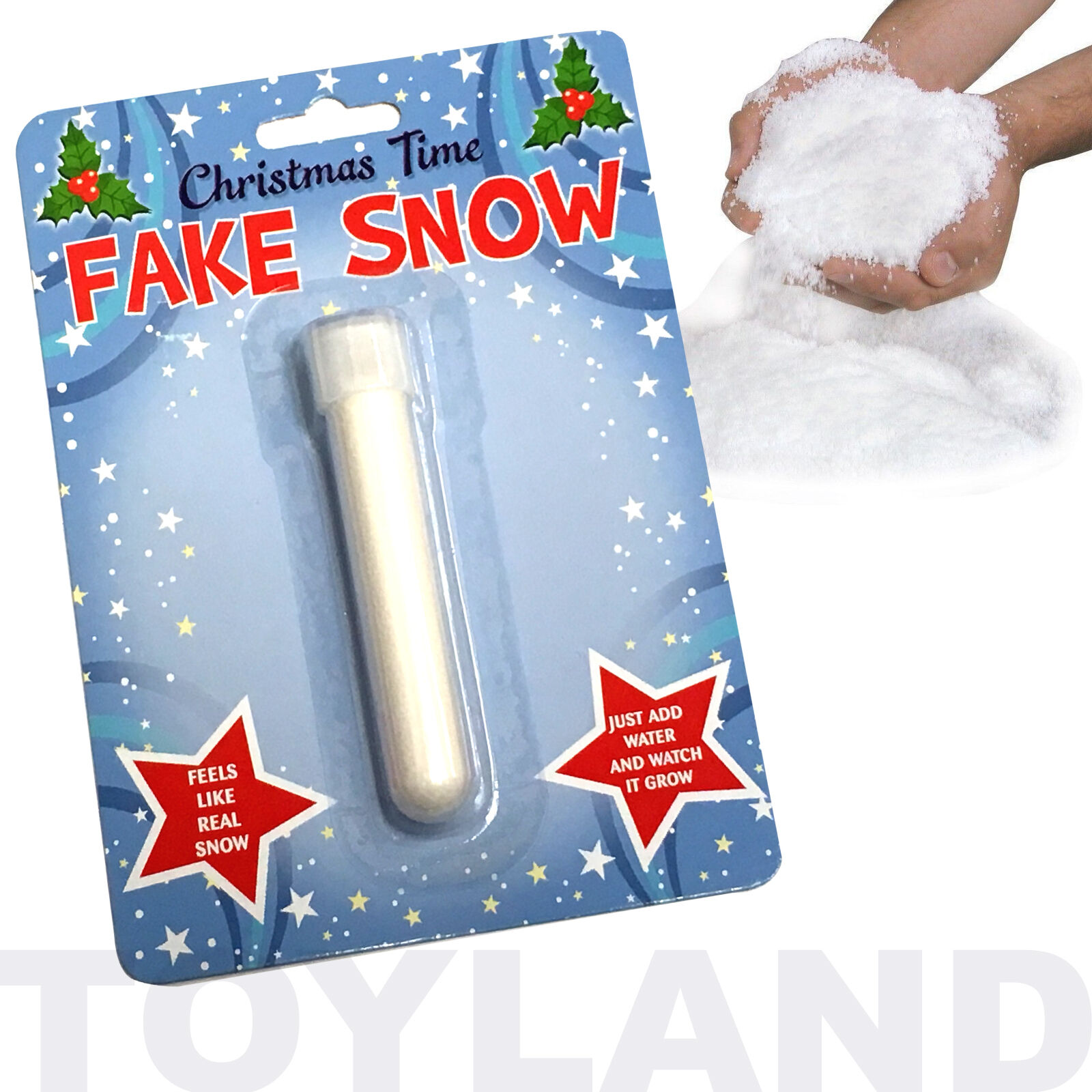 MAGIC FAKE SNOW TOY BOYS GIRLS XMAS SECRET SANTA GIFT CHRISTMAS STOCKING FILLER