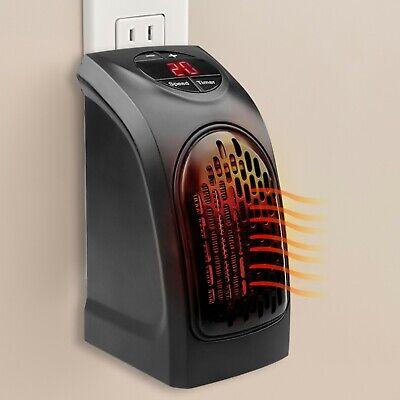 Calentador Portátil Con Enchufe Pared Mini Calefactor Eléctrico Ajustable 350W