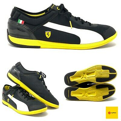 Puma Men's Ferrari Future Cat M1 SF Shoes Black Yellow US Size11.5 Italy Flag