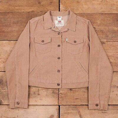 Womens Vintage Levis White Tab Tan Corduroy Trucker Jacket Large 12 - 14 R8386