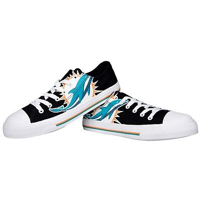 (Miami Dolphins Big Logo Low Top Sneakers Team Color Shoes US Men's Sizing)