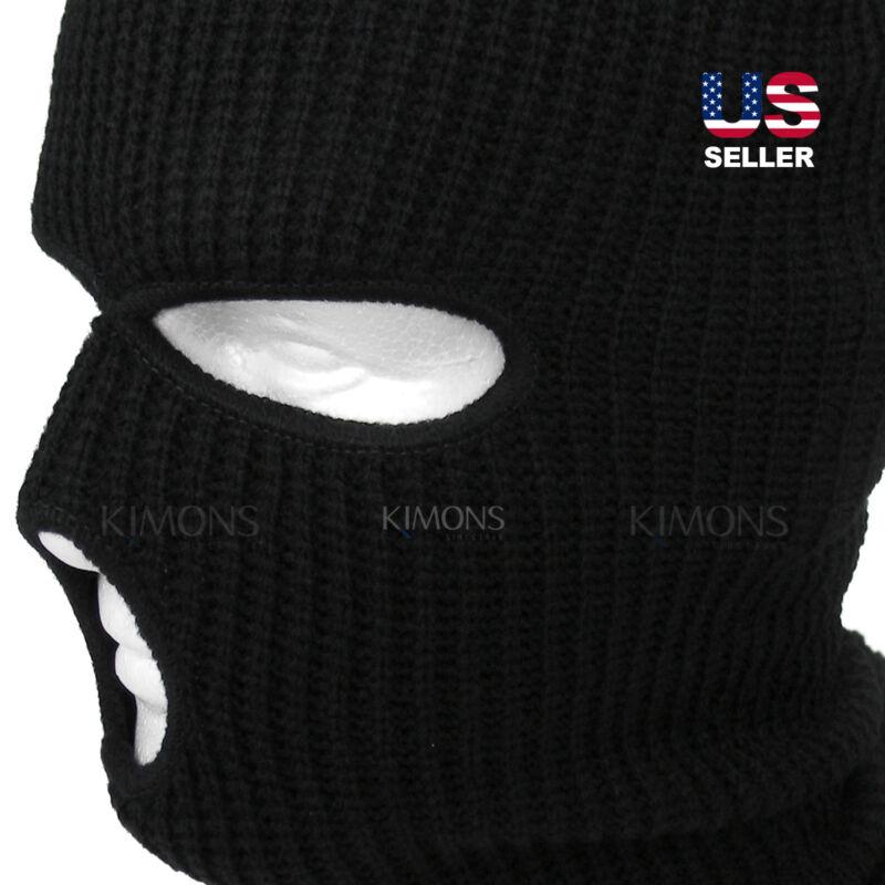 ec02de97284 3 Hole Full Face Mask Ski Mask Winter Cap Balaclava Hood Army Tactical
