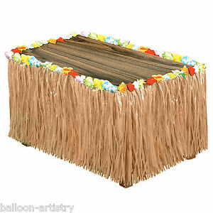 9ft Luxury Tropical Hawaiian Natural Artificial Grass Table Skirt Decoration