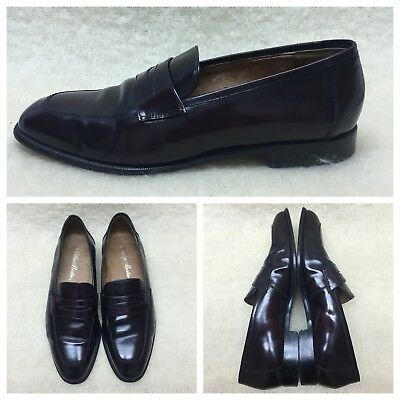 Phillip Martin Penny Loafers Mens 10.5M Dark Brown Leather Dress Shine 3601 2025