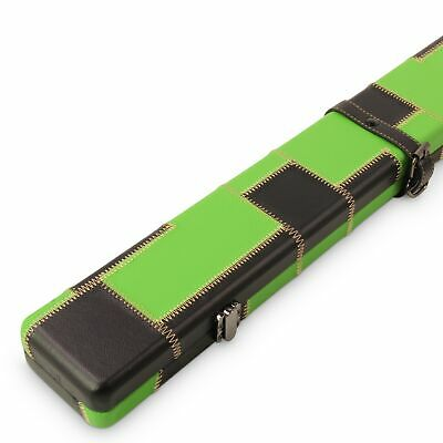 Baize Master 1 Piece GREEN and BLACK PATCH Luxury Round Corner Snooker Cue Case