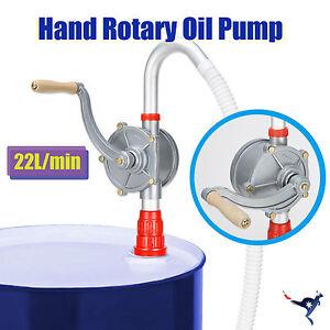 Hand Rotary Self Dispense Oil Diesel Fuel Pump Aluminium Alloy Drum Tank Barrel