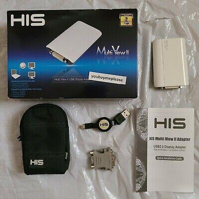 HIS Multi-View II DVI USB 2.0 Adapter HMV2-MAC-PC