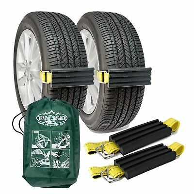 2 Pk Snow Tire Chain Trac-Grabber Unstuck Emergency Traction Car Van ATV UTV Mud