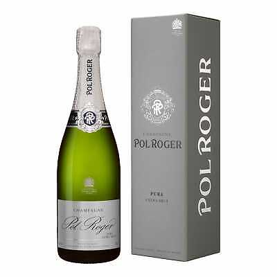 1x Champagner Pol Roger PURE Extra Brut in Geschenkverpackung
