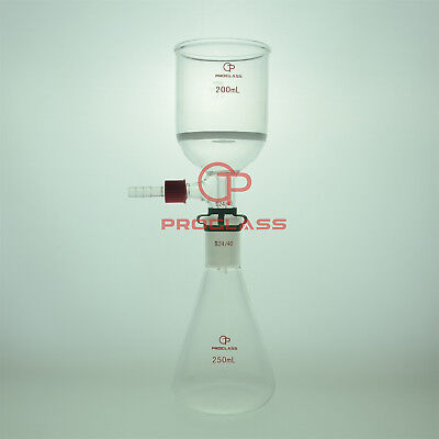 Proglass Filtering Buchner Set 250ml Erlenmeyer Flask Plus The 200ml Funnel