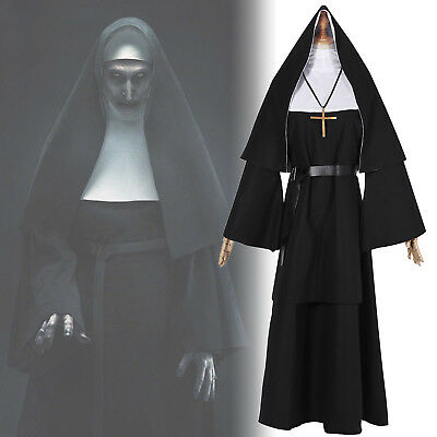 The Conjuring Scary The Nun Valak Sister Cosplay Costume Halloween Women Dress - Womens Scary Halloween Costume