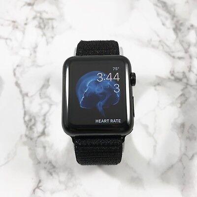 Apple Watch Gen 1 42mm Black Stainless Steel Case Series 7000 Black Nylon Loop