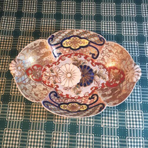 Antique Vtg Japanese Imari Plate w/ Flower (#14)