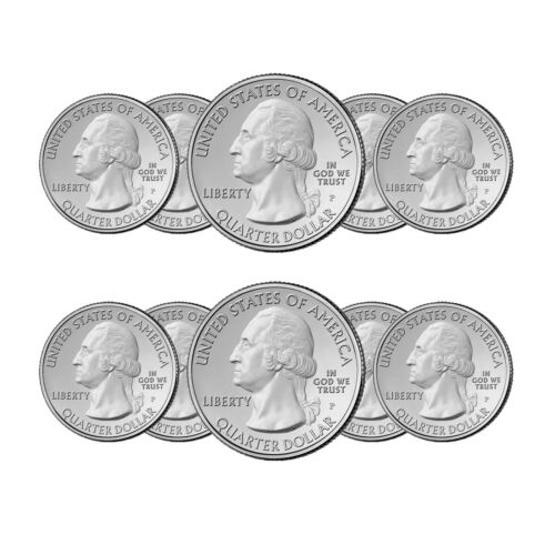 2010 P&D NATIONAL PARK QUARTERS 10 COIN SET FREE SHIPPING Best Price