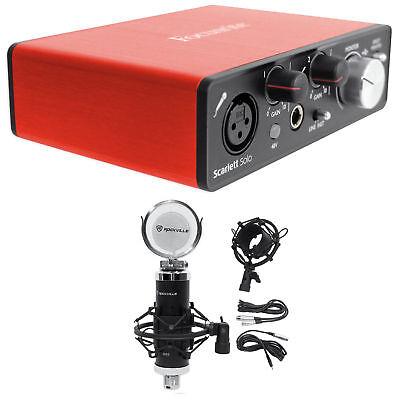 Focusrite SCARLETT SOLO 2nd Gen 192KHz USB 2.0 Audio Interface+Studio Microphone