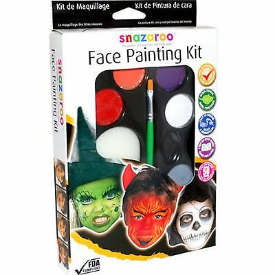 Snazaroo Halloween Fancy Dress Party Face Paint Painting Makeup Kit for 50 faces (Face Paint Makeup For Halloween)