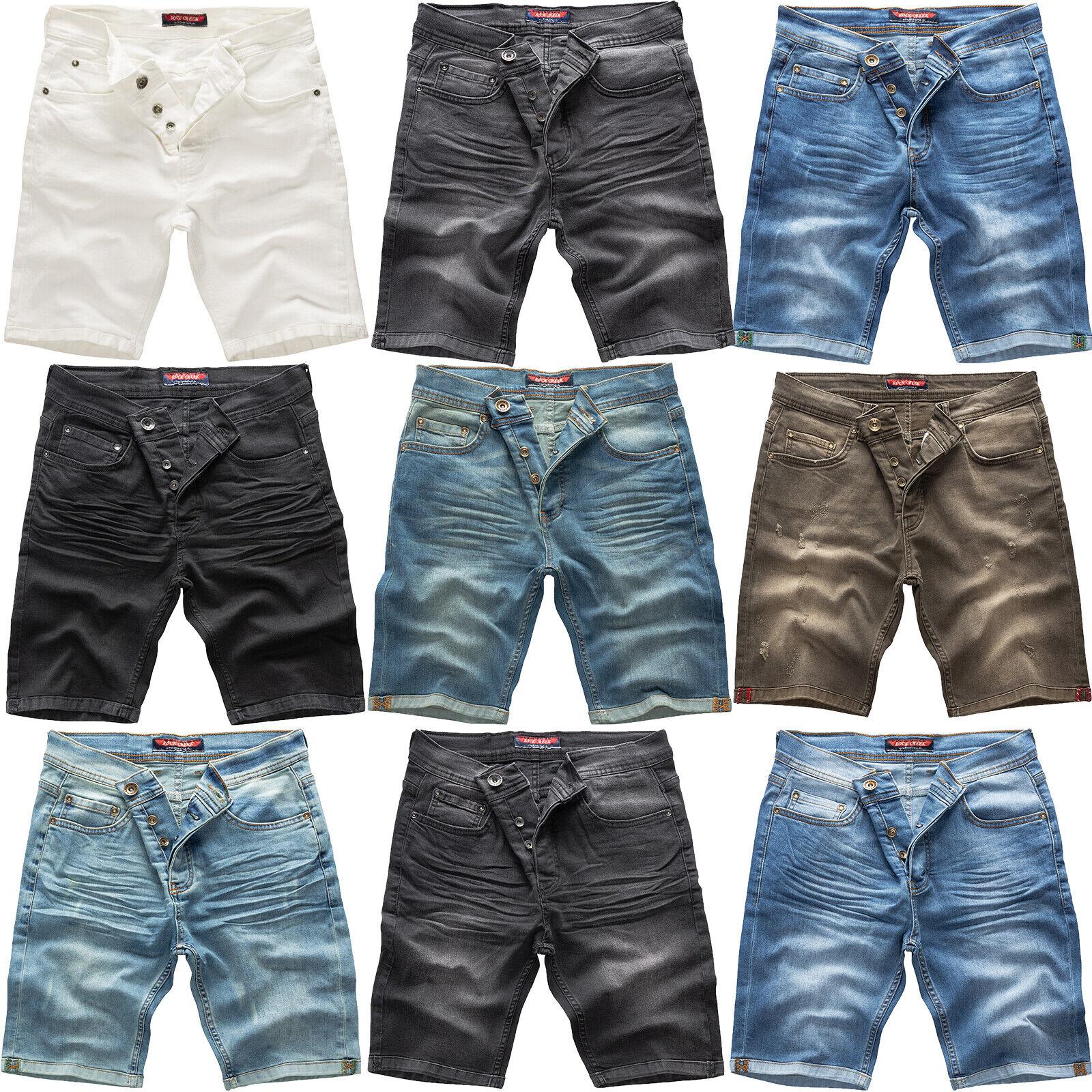 a8281101ba85d Rock Creek Herren Jeans Short Kurze Bermuda Shorts Hose Denim Stonewashed  M50