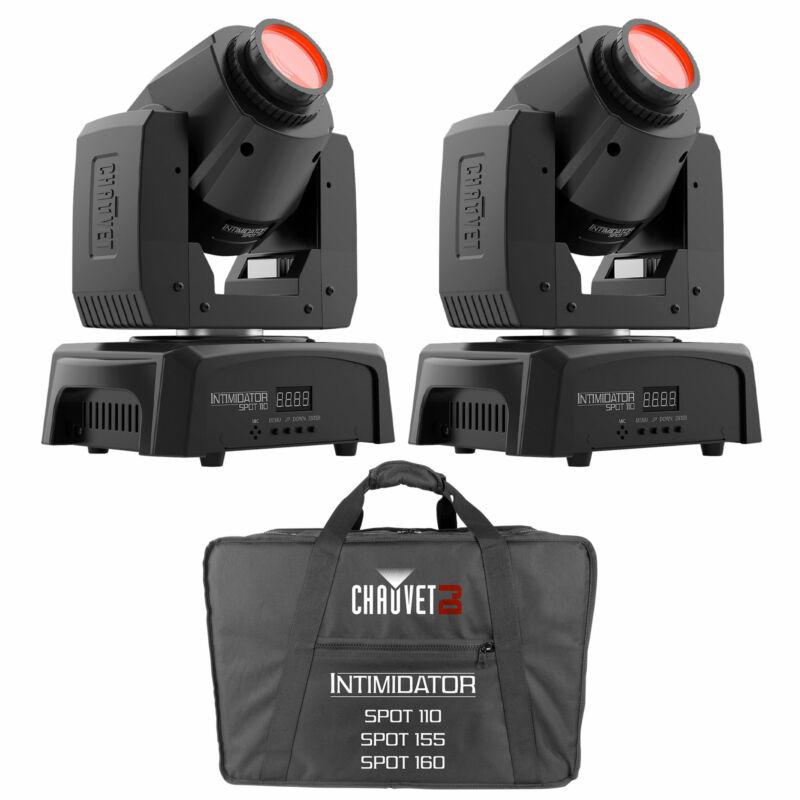 2) Chauvet Intimidator Spot 110 Compact LED Moving Head Lights+CHS-1XX Carry Bag