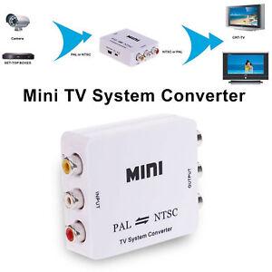 PAL/NTSC/SECAM to PAL/NTSC Mini Bi-directional TV System Converter Switcher NEW