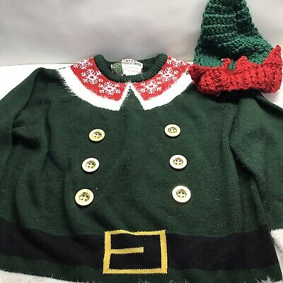 Small Christmas Jumper Gift With Matching Hat - VGC - Size Small