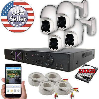 Sikker 4 ch channel DVR 1080P Pan Tilt camera surveillance