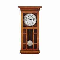 Bulvoa Mayfair Chiming Indoor Wood Framed Decorative Wall Clock (Open Box)