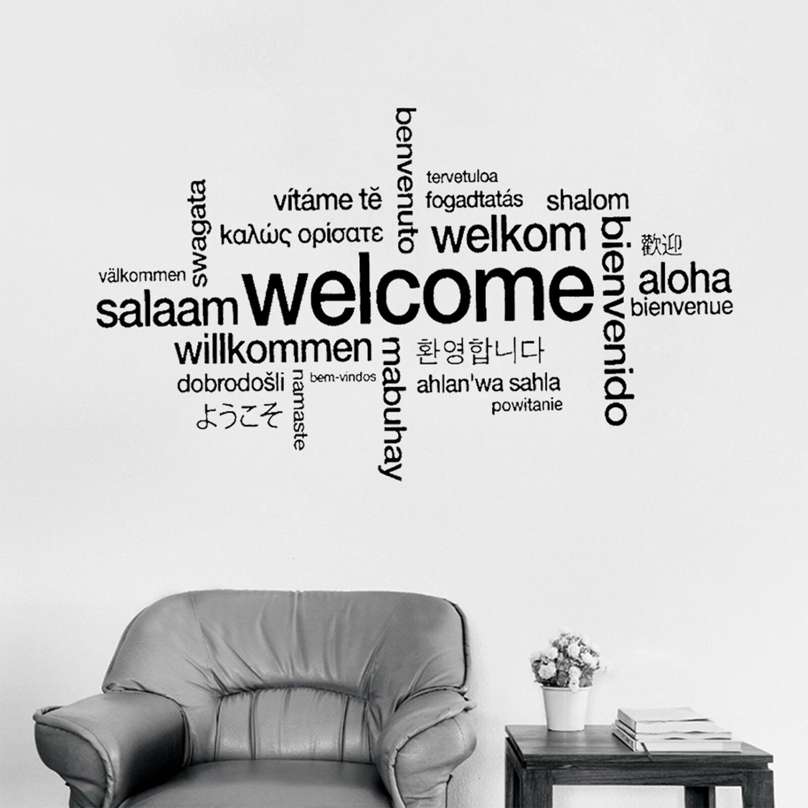 different language quotes wall stickers living bedrooms home