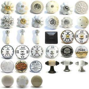 Vintage cer mica porcelana china armario pomos puerta tiradores para cajones ebay - Tiradores para cajones ...