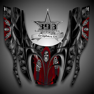 Arctic Cat ZR 600, 500, 800 Mountain Cat 00-06 Graphics Decal Wrap Reaper Red