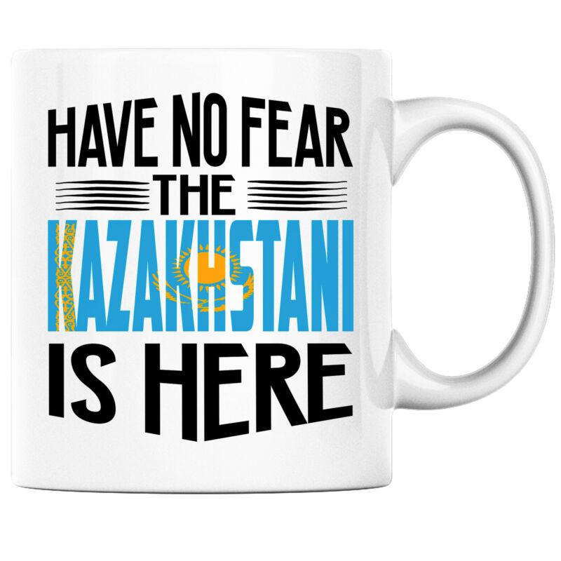 Have No Fear the Kazakhstani is Here Funny Coffee Mug Kazakhstan Heritage Pride