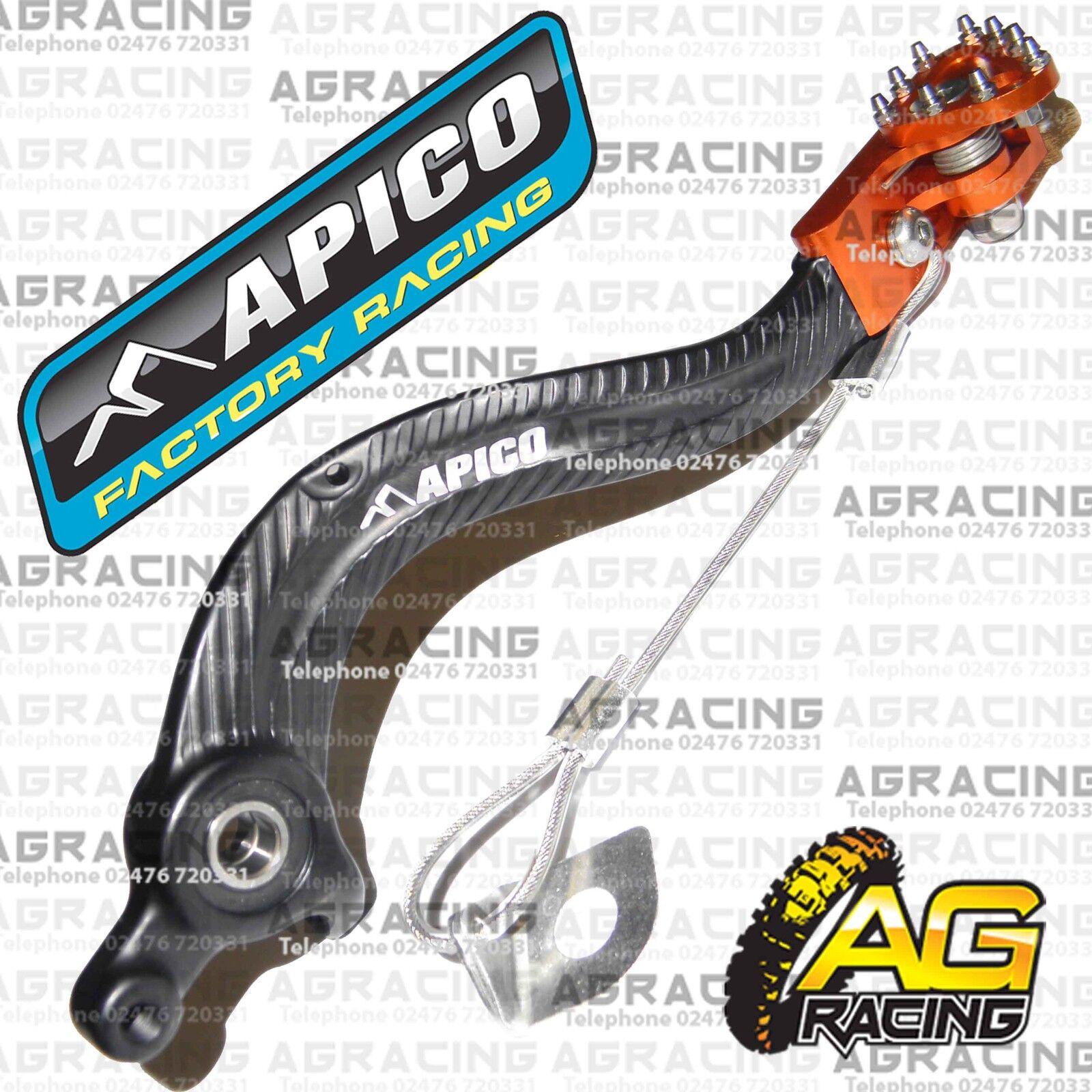 Apico Black Orange Gear Pedal Lever Shift For KTM EXC 125 2008 Motocross Enduro