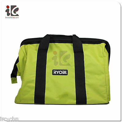 Ryobi One Contractors Canvas Green Wide Mouth Larger Tool Bag 18X14x12 Inch