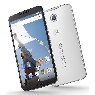 Motorola Nexus 6 64GB Unlocked GSM Quad-Core Android 13MP Phone - Cloud White